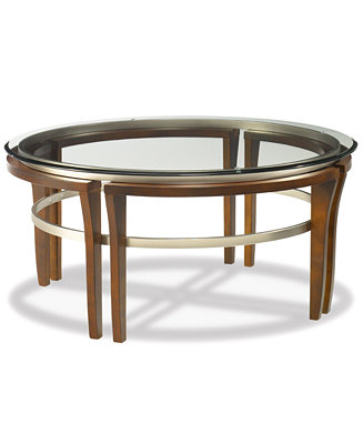 Fusion round coffee table furniture macy 39 s for Coffee tables you can put photos in