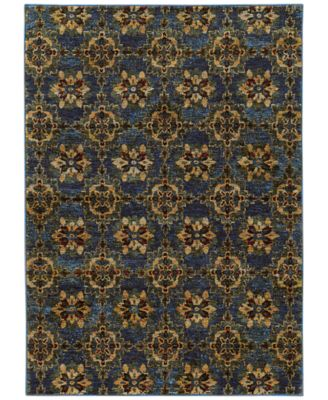 "Journey  Vella Blue 7'10"" x 10'10"" Area Rug"