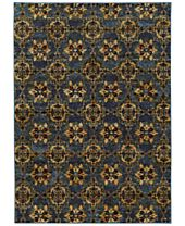 Macy's Fine Rug Gallery Journey Vella Blue Area Rugs