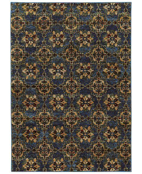 "JHB Design  Macy's Fine Rug Gallery Journey  Vella Blue 1'10"" x 3'2"" Area Rug"