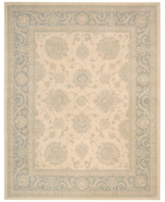"Home Royal Serenity Hyde Park Ivory Blue 7'6"" X 9'6"" Area Rug"