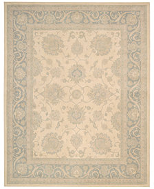 kathy ireland Home Royal Serenity Hyde Park Ivory Blue 8' X 11' Area Rug