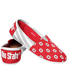 Forever Collectibles Women's Ohio State Buckeyes Canvas Stripe Shoes