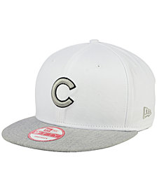 New Era Chicago Cubs White Heather Gray Black 9FIFTY Snapback Cap