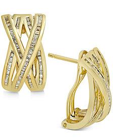 Diamond Crisscross Earrings (1/2 ct. t.w.) in 14k Gold