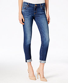 Kut from the Kloth Petite Catherine Boyfriend Ankle Jeans
