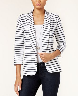 Maison Jules Three-Quarter-Sleeve Knit Blazer, Created for Macy's