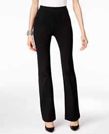 I.N.C. High-Waist Curvy-Fit Bootcut Pants, Created for Macy's