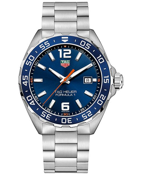 3677b8f348d ... TAG Heuer Men s Swiss Formula 1 Stainless Steel Bracelet Strap Watch ...
