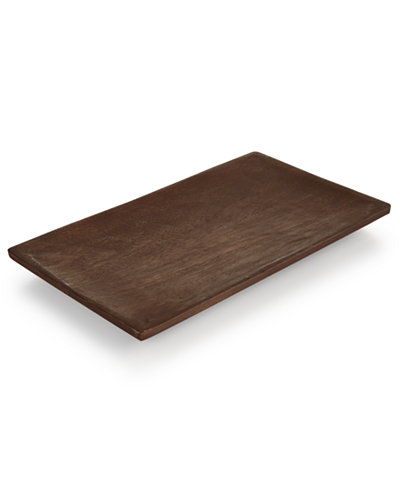CLOSEOUT! Hotel Collection Marble Wood Accent Tray, Created for Macy's