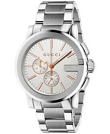 Gucci Unisex Swiss Chronograph G-Chrono Stainless Steel Bracelet Watch 44mm YA101201