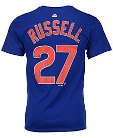 Majestic Men's Addison Russell Chicago Cubs Official Player T-Shirt
