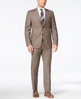 ab8f1ce8aba Lauren Ralph Lauren Men s Light Brown Glen Plaid Flannel Pure Wool .