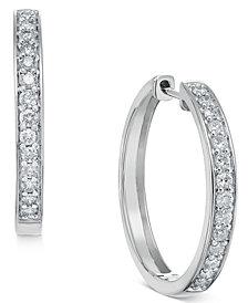 Diamond Hoop Earrings (1/2 ct. t.w.) in 14k White or Yellow Gold