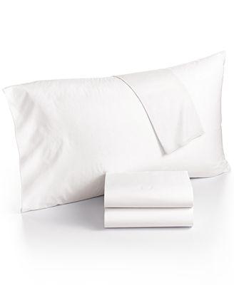 Calvin Klein Washed Essentials Garmet Cotton Percale Sheet Sets
