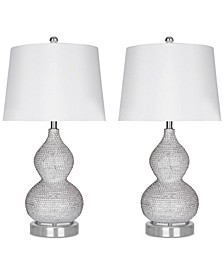 Set of 2 Beaded Table Lamps