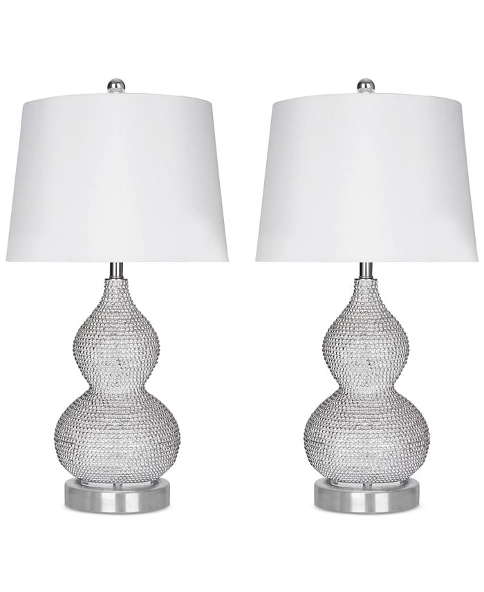 Abbyson Living - Set of 2 Beaded Table Lamps