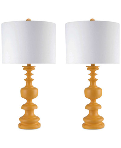 CLOSEOUT! Abbyson Living Set of 2 Yellow Table Lamps