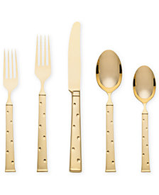 kate spade new york Larabee Dot 5-Piece Gold Place Setting Flatware