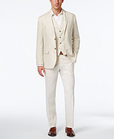 Tasso Elba Vested Linen Suit Separates, Created for Macy's