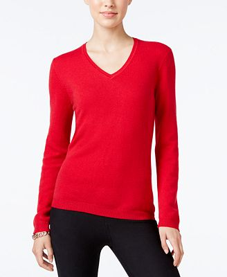 Charter Club Cashmere V-Neck Sweater, Created for Macy's ...