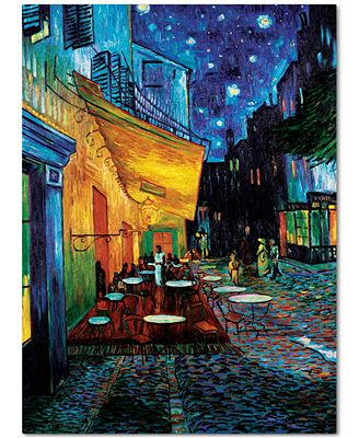 'Cafe Terrace' by Vincent van Gogh Canvas Print