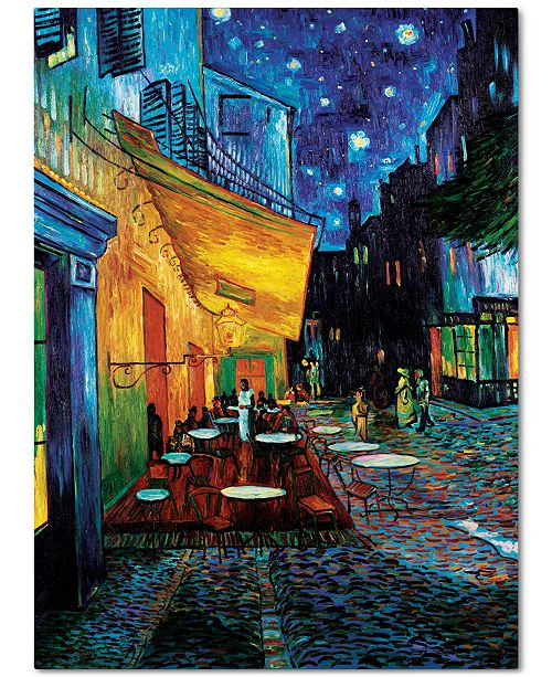 "Trademark Global 'Cafe Terrace' by Vincent van Gogh 18"" x 24"" Canvas Print"