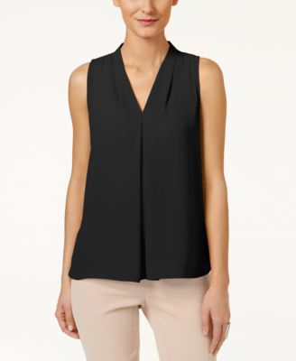 Image of Vince Camuto Inverted-Pleat Blouse, Created for Macy's