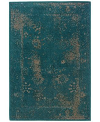 """CLOSEOUT! Revamp REV7690D Turquoise 7'10"""" x 10'10"""" Area Rug"""