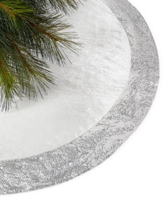 Holiday Lane Silver Sequin Tree Skirt Only At Macyus With Christmas