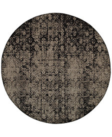 "CLOSEOUT! Oriental Weavers Revamp REV7216E Grey 7'8"" Round Rug"
