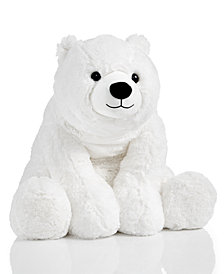 "Holiday Lane 21"" Medium White Plush Polar Bear, Created for Macy's"