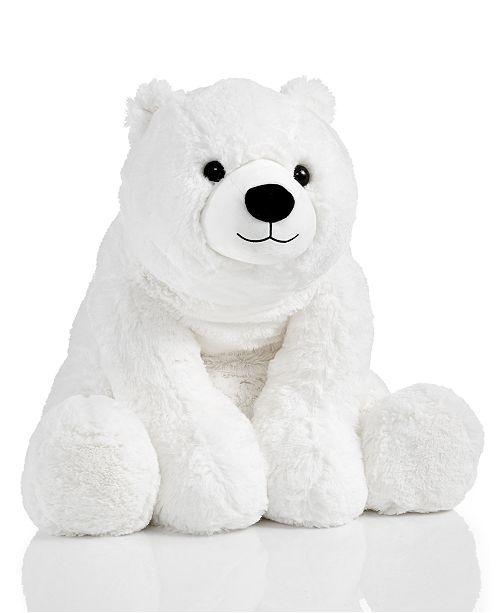 Holiday Lane 21 Medium White Plush Polar Bear Created For Macy S