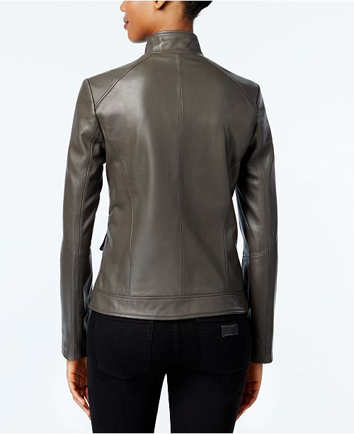 Stand Jacket Black Haan Cole Leather Collar Ew84HqHF