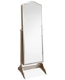 Norene Floor-Standing Mirror and Jewelry Armoire, Quick Ship