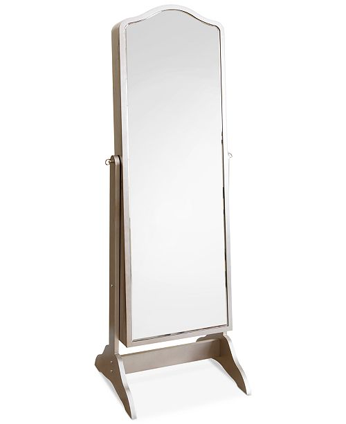 Abbyson Living Norene Floor Standing Mirror And Jewelry Armoire