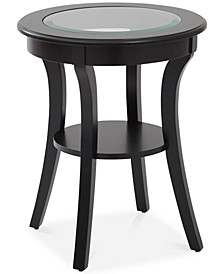 Rankin Round Glass-Top Accent Table
