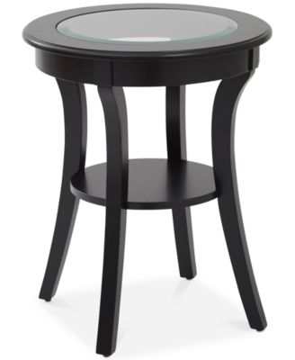 Rankin Round Glass Top Accent Table, Quick Ship