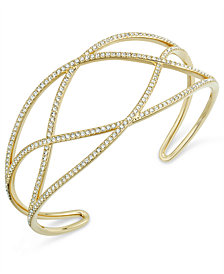 Danori Pavé Laurel Cuff Bracelet, Created for Macy's