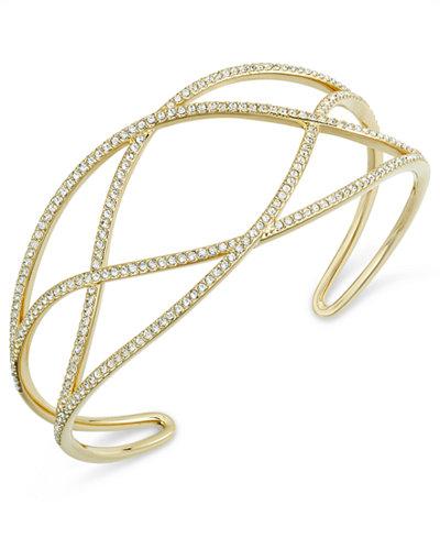 Danori Pavé Laurel Cuff Bracelet, Created for Macy's