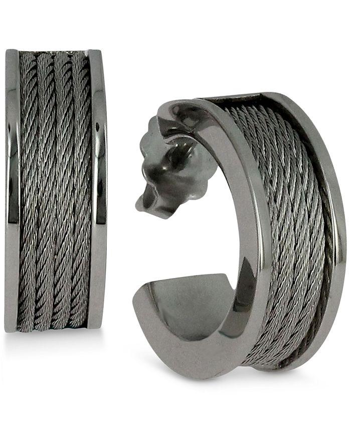 CHARRIOL - Women's Forever Stainless Steel Cable Hoop Earrings 03-01-1139-0