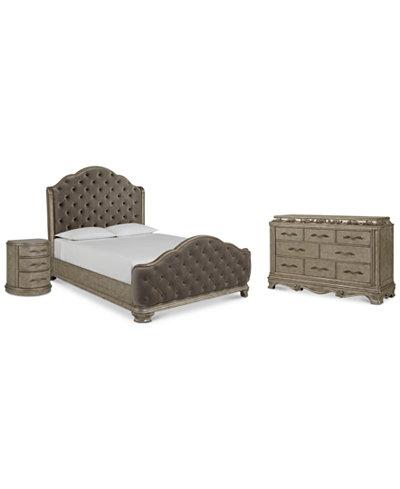 Zarina Bedroom Furniture, 3-Pc. Set (California King Bed, Dresser ...