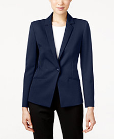 Tahari ASL Bi-Stretch One-Button Blazer, Regular & Petite