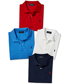 Polo Ralph Lauren Embroidered Piqué Polos, Toddler, Little Boys, & Big Boys