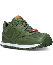 New Balance Men's 574 Flight Jacket Casual Sneakers from Finish Line
