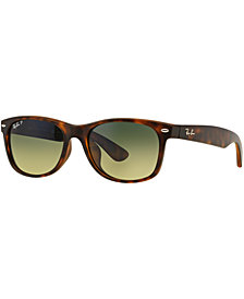 Ray-Ban Polarized Sunglasses, RB2132F NEW WAYFARER