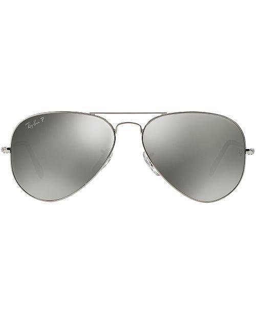 bc7ef212eb ... Ray-Ban Polarized Aviator Mirrored Sunglasses