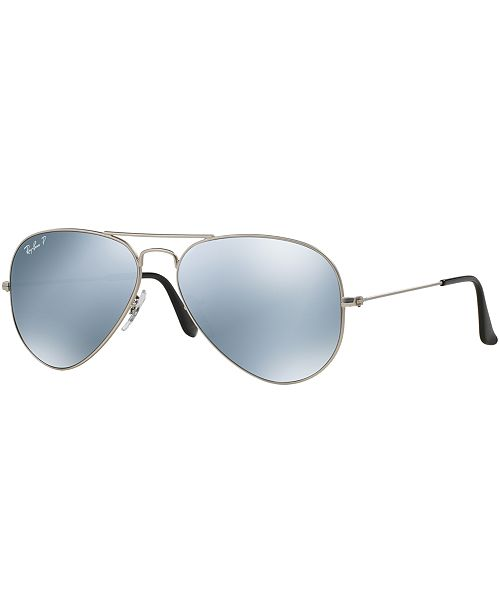 c2c1d4ff34 ... Ray-Ban Polarized Original Aviator Mirrored Sunglasses