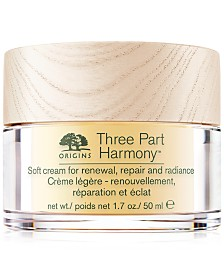 Origins Three Part Harmony Soft Cream for Renewal, Replenishment and Radiance, 1.7 oz