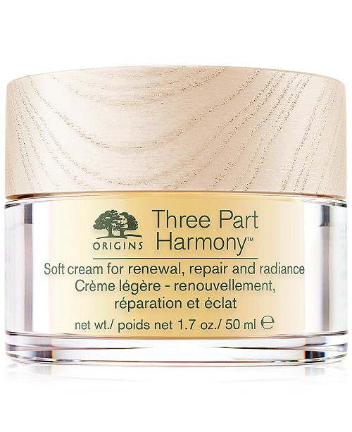 Origins Three Part Harmony Soft Cream for Renewal, Replenishment and Radiance, 1.7 oz